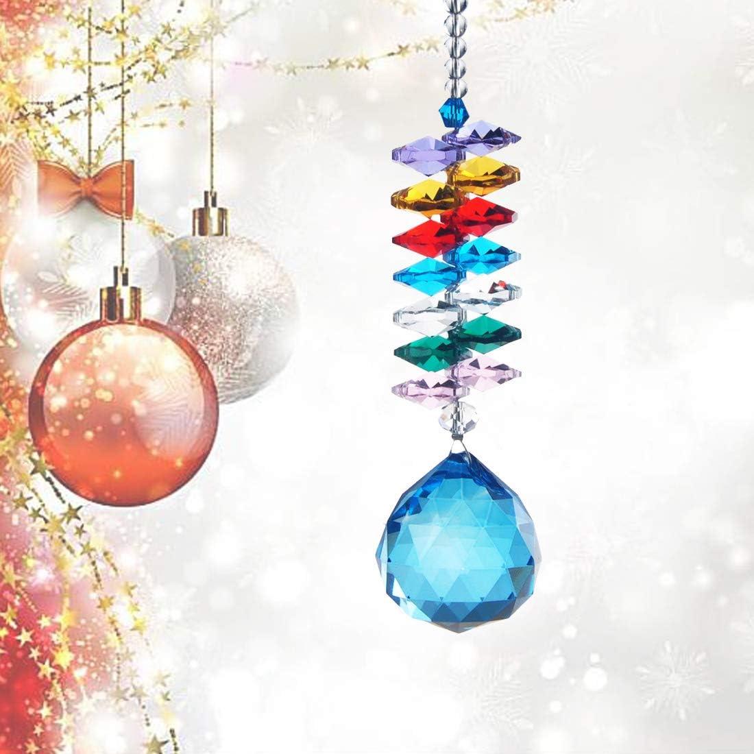 San Jose Mall HD 30mm Crystal Ball Prism Hanging Inexpensive Collection Rainbow Maker Sun