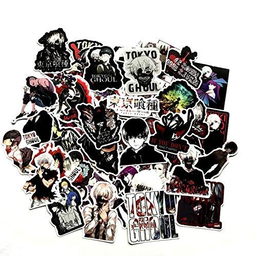 WANGPENG Japan Anime Stickers Pack Terror Graffiti Horror Waterproof Toy For Luggage Laptop Skateboard 50 Pcs