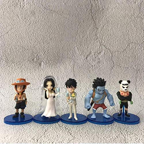 Anime Model Statue Einteiliger Schatz Ruffy Nightmare Brautkleid Boa Hancock Ace Panda Man PVC Actionfigur Sammlermodell Toy Doll 8cm