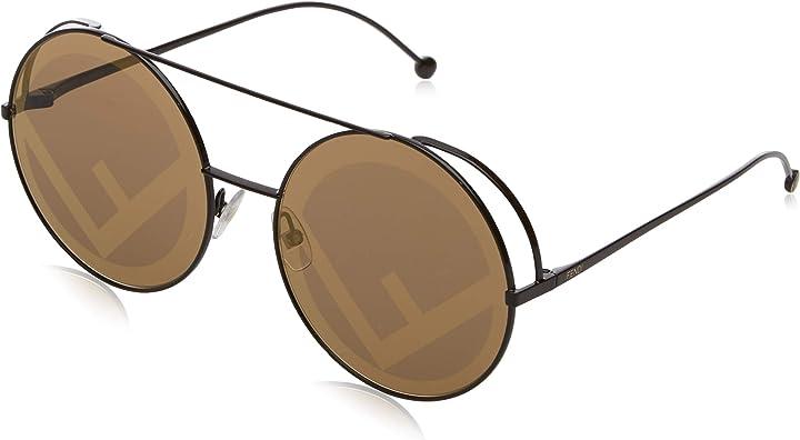 Occhiali fendi in rosso di rotondi di pista ff 0285/s c9a 63 occhiali da sole fendi B075H2SJFQ