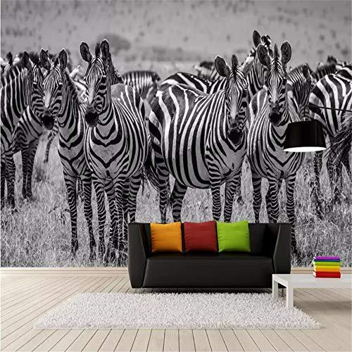 ZAMLE Tapeten Anpassen 3D Hd Tief Zebra Tapete Fototapete Hintergrund Wand 3 D Fototapete Kommerzielle Tapete, 300X210 Cm (118.1 Von 82,7 In)