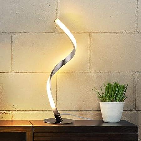 テーブルランプ Albrillo モダンスタイル テーブルライト 調光可能 タッチセンサー 美しい曲線デザイン 装飾ランプ ナイトライト おしゃれ 間接照明 ベッドサイドランプ 寝室 デスクライト インテリア 授乳用 省エネ プレゼント 北欧照明