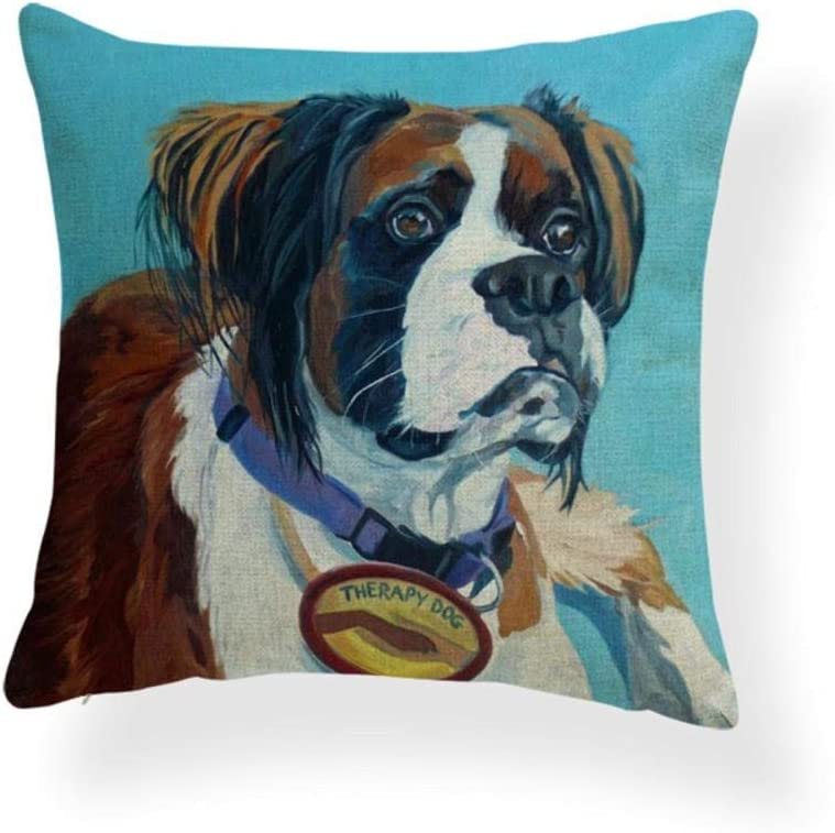 AdoDecor Watercolor Dog Print Covers Many popular brands Super sale period limited Dachshund Cushion Chihuahua