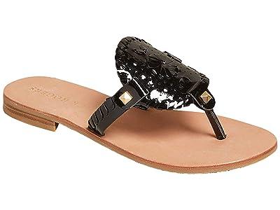 Jack Rogers Georgica Patent Sandal (Black) Women