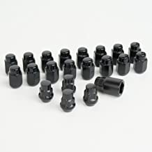 SR1 Performance Lug Nuts and Wheel Locks Set 12mm x 1.50 Thread size : (Black)