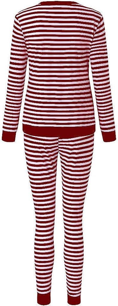 waitFOR Maternity Winter Autumn 2pcs Pyjama Sets Pregnant Women Long Sleeve Stripe Print T-Shirt Tops Beam Feet Loose Trousers Pregnancy Ladies Plain Blouse Pajama Pants
