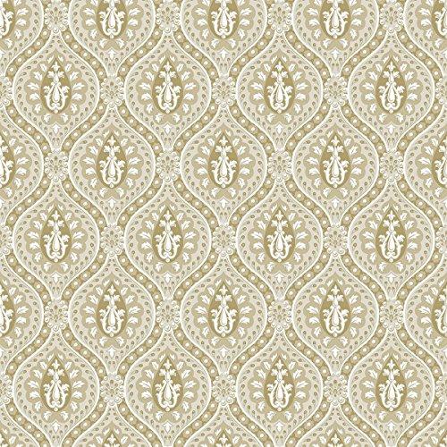 DansLemur 322-1 vliesbehang damast parellook beige