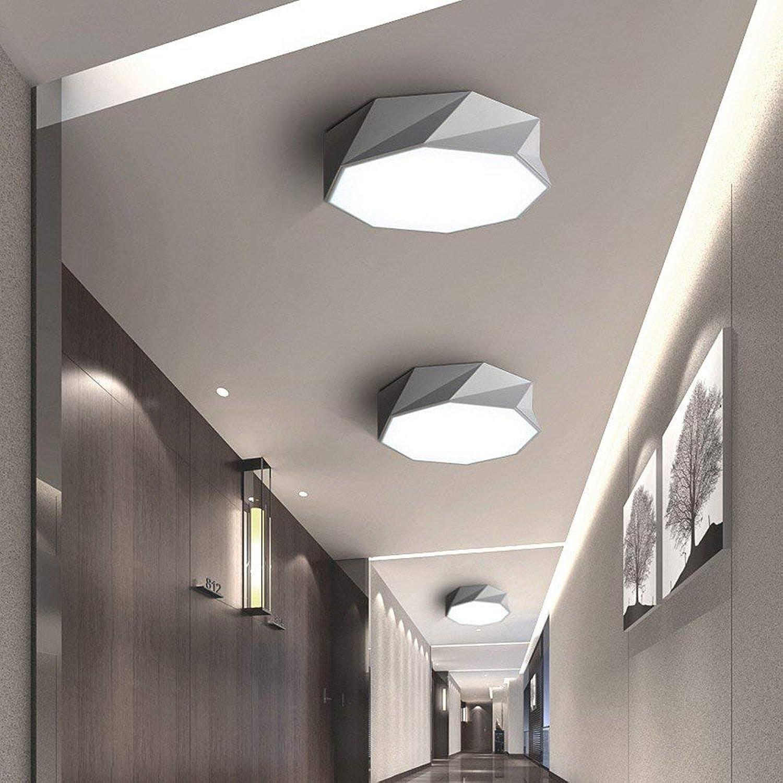 Moderne minimalistische Deckenleuchte Deckenleuchte Geometrische kreative Kunst LED Eisen Acryl für Wohnzimmer Schlafzimmer Study Hall Corridor Balkon Hotel Wei-Durchmesser 42-24W-Weiß Licht