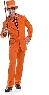 Charades Men's Funny Tuxedo Costume, Orange, Small