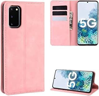 YPshell Phone Case For For Samsung Galaxy S20 FE 4G / 5G Retro-skin Business Magnetic Suction Leather Case with Holder & C...