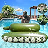 KDJ Swimming Pool Floats, Inflatable Toy with Squirt Gun, Swimming Ring Water Jet Toy for Kids, Teens and Adults, Swim Stuff for Summer, Giant Size Outdoor Water Toys for Lakes and Beach