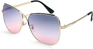 نظارات شمس نسائية من FEISEDY بتصميم على شكل X كبير الحجم على شكل فراشة للسيدات B2738