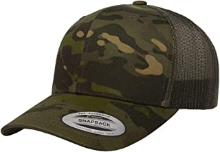 Yupoong Retro Trucker Hat & 2-Tone Snapback - 6606 Multicam Tropic/Green