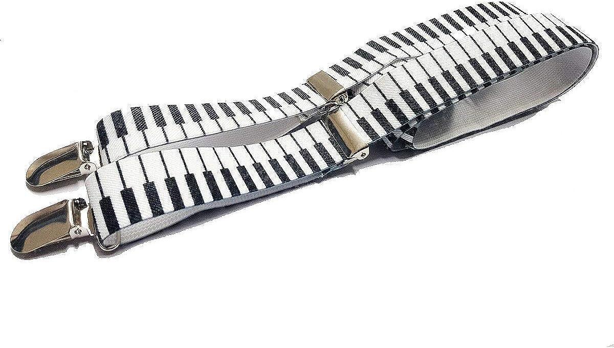 Dangerousfx Men's Piano - Funky Trendy Suspender Braces