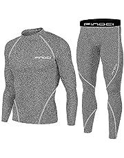 1Bests Sporthardloopset voor heren, compressieshirt + broek, nauwsluitend, lange mouwen, sneldrogend, fitness, trainingspak, gym yoga pakken