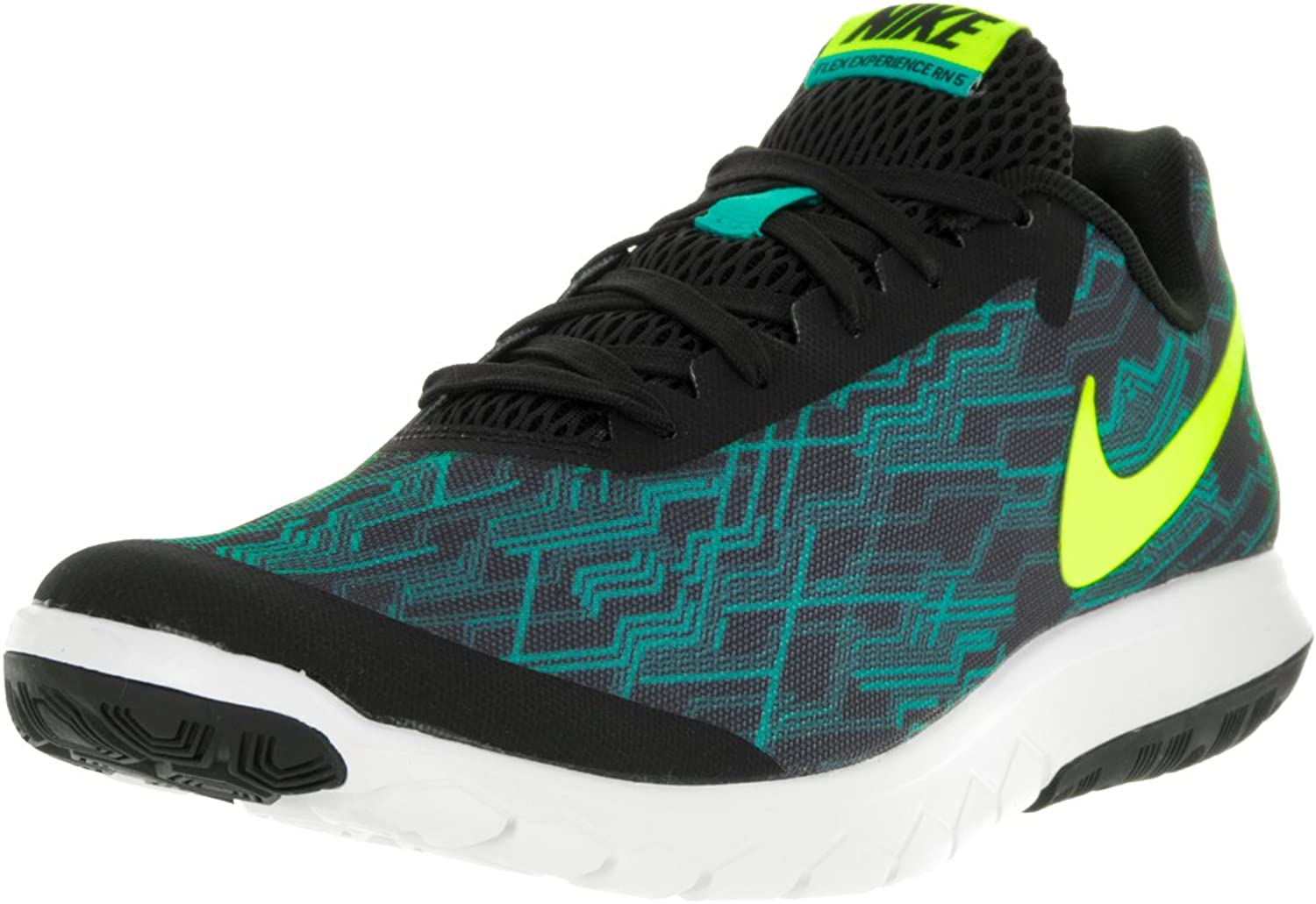Nike Men's Flex Experience RN 5 PREM, Black Volt-Clear Jade-White