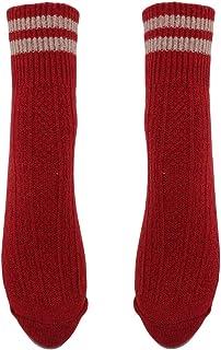 CanVivi, Invierno Puños Dos Barras Calcetines de Lana Simple Gruesa Algodón Lana Calcetines de Rayas Diseño Suave Cómodo Calcetines