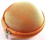 Orange Carrying Case for LG HBM-210 HBM-260 HBM-215 HBM-310 HBM-800 HBM-520 HBM-530 HBM-570 HBM-730 HBM-760 HBM-770 HBM-235 HBM-230 HBM-580 HBM-585 HBM-560 HBM-750 HBM-755 HBM-810 HBM-220 HBM-550 HBM-761 HBM-710 HBM-300 HBS-110 Solar Wireless Bluetooth Headset Bag Holder Pouch Hold Box Pocket Size Hard Holder