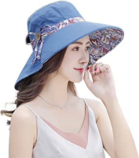 Women's Summer Foldable Wide Brim Sun Hat UV Protection Beach Cap