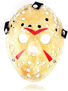 NiceWave Halloween Jason Mask Gold Vintage Jason Voorhees Freddy Hockey Festival Halloween Masquerade Party Mask Beautiful jewelry