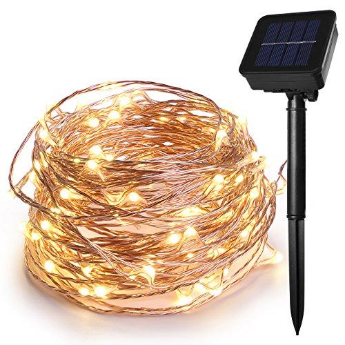 HEEPOW - Guirnalda luces hada energía solar 100 ledes