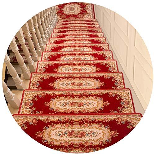 Tappeti per Scale WXF Set di 1/3/5 Pezzi pedate Passo Carpet Mats, Antiscivolo Scale Pads, Tappeto Passo Scalinata Tappetino, Coperta Stair Protettori Copertina (Color : 1 Piece, Size : 30×85cm)