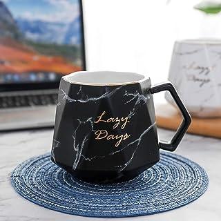 TFWell Ceramic Coffee Mug, Marble Coffee Cup, Porcelain Mug for Wedding Birthday Party Christmas and Thanksgiving Mug, 14 ...
