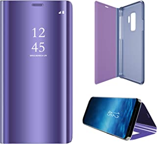 8aa9fe97f92 Hexcbay Funda Samsung Galaxy S9, Samsung Galaxy S9 Plus, Elegant Mirror  Flip Funda Protectora