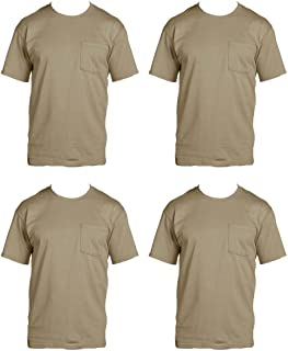Fruit of the Loom Men s 4-Pack Pocket Crew-Neck T-Shirt - 6919c611b
