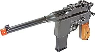 BBTac BT-712 World War II 165 FPS C96 Metal Zinc Alloy Airsoft Pistol with Magazine
