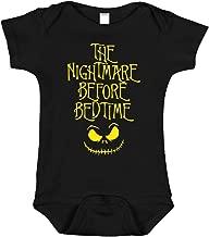SARBIEN Designs The Nightmare Before Bedtime Onesie | Funny Parody Baby Bodysuit Romper | Halloween Infant Clothes