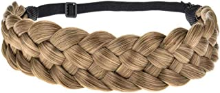 Sponsored Ad - TOECWEGR 5 Strands Synthetic Hair Braided Headband Hairpiece Classic Chunky Wide Plaited Braids ElasticMult...