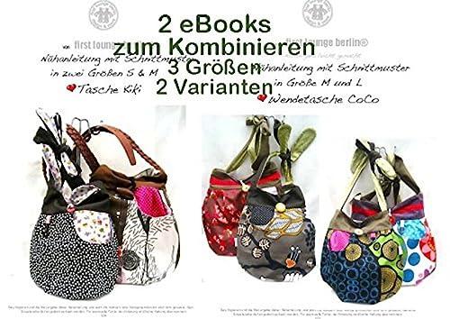 Kiki&Coco Nähanleitung mit Schnittmuster für Umhängetasche, 2 eBooks in Einem [Download]