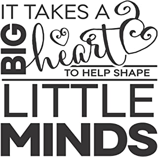 Wall Decor Plus More WDPM3754 Big Heart Little Minds Teacher Wall Decal Quote, 11 x 11