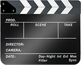 Neewer Acrylic Plastic 10x12in/25x30cm Dry Erase Director's Film Movie Clapboard Cut Action Scene Clapper Board Slate with...
