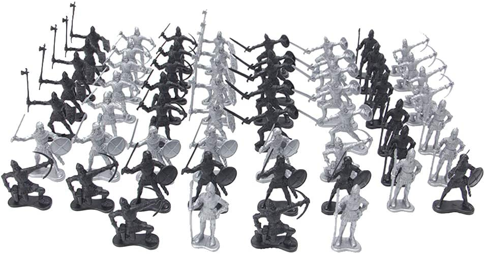 New item Tachiuwa Cheap SALE Start 60 Pieces Medieval Knights Figures Infantry Pl Soldiers