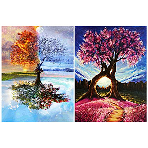 11.8 X 15.75 Inch DIY 5D Castle Diamond Painting Kits for Beginners Full Drill Round Cross Stitch Kits for Adults with Pattern Rhinestones for Crafts Wall Decor