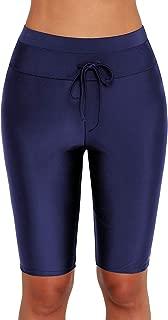 Women's Boardshort Tankini Swimwear Shorts High Waisted Rash Guard Boy Leg Skinny Swim Bottom Shorts