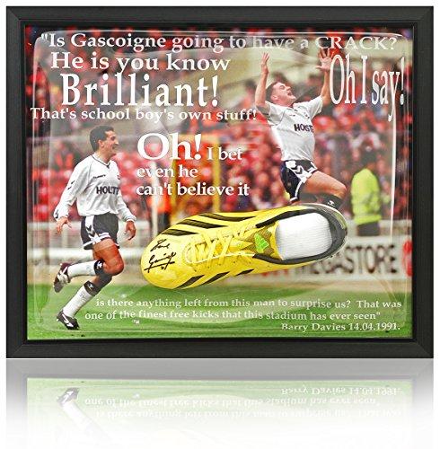 handsigniert von Paul Gascoigne Tottenham Hotspur Football Kofferraum Präsentation