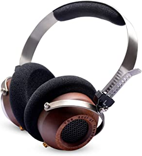 OKCSC M1 DIY Open Voice Over-Ear Headsets Stereo Super Bass Wooden Big Headphone,Active Noise Cancelling Earphone