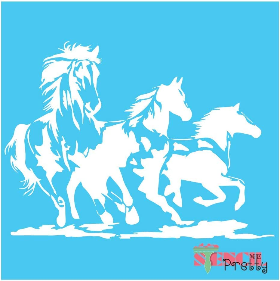 Directly managed store Wild Mustang Horse Stencil - Vinyl Best DIY Bronco In stock Large