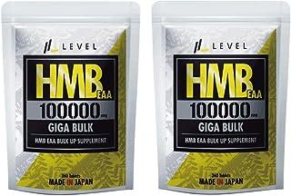 LEVEL FIT HMB EAA アルギニン サプリ100000mg(業界最大級配合量)360粒(2袋セット)