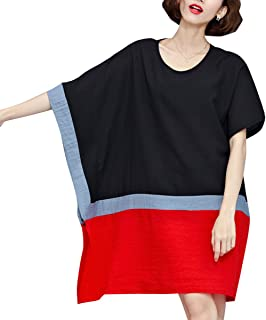 Women Mid-Long Personality Hem Solid Oversize T-Shirt GA200