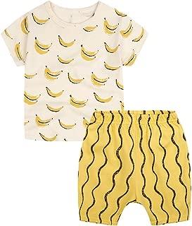 Unisex Baby Little Girls Boys' Toddler 2pc Summer T-Shirt Shorts Set Outfits