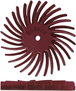 Swpeet 66Pcs 1 Inch 6 Mixed Grit 80//120//220//400//600//1000 Radial Bristle Disc Abrasive Brush Gap Polishing Pad Buffing Wheel Assortment Kit with 1//8 Shank for Rotary Tools Cleaning Finishing Deburring