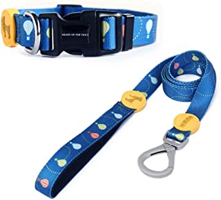 Heads Up For Tails Pup in Air Dog Collar and Leash (Small)