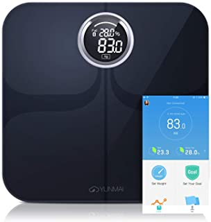 YUNMAI Bascula Smart Digital Bluetooth Peso Corporal con Nueva App Pantalla Grande Baño