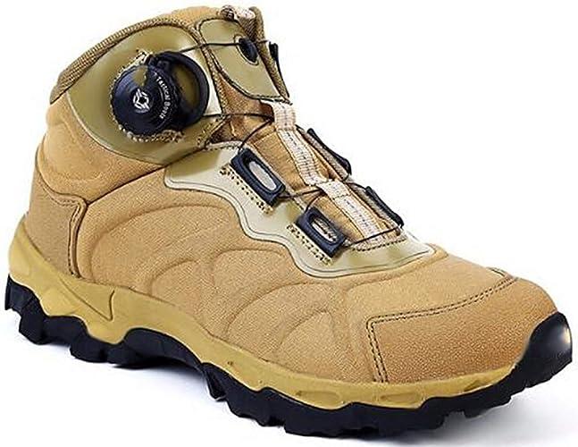 DSX Chaussures de Randonnée Bottes de Neige Bottes de Plein Air pour Hommes Chaussures de Marche Chaussures de Randonnée à Lacets, Marron, 8UK