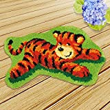 Caige Kits de Gancho de Cierre de Bricolaje, Alfombrilla la elaboración de artesanías Bordado de alfombras Conjunto, 20 x 16,5 Pulgadas,B