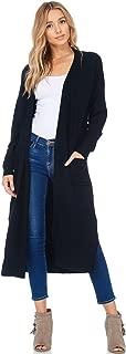 Womens Casual Longline Knit Cardigan Loose Sweater Side Slit